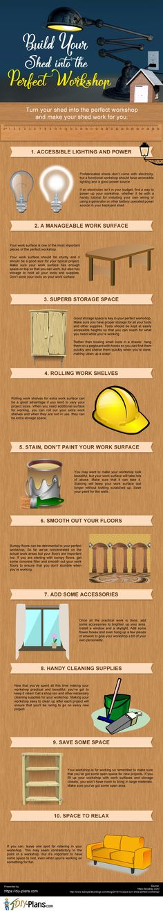 Build Your Shed into the Perfect Workshop #DIY #Workshop
