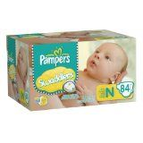 Swaddlers Size Newborn Diapers Big Pack 84 Count