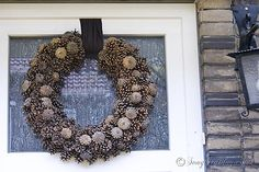 Doing a little pine cone wreath diy is fun, frugal and easy. Gather pine cones, a straw wreath and a glue gun and you'll have a pine cone wreath in no time.