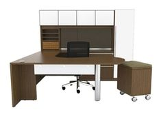 White glass accented executive desk set for sale. Enjoy this Verde collection U station configuration with right or left return today at Office Furniture Deals. Our selection of Cherryman Industries Verde stations is the absolute best online.