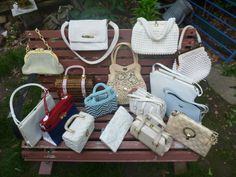 Vintage Virna's summer purse collection. Read all about picking the perfect one for you: http://vintagevirna.blogspot.com/2014/06/how-to-pick-perfect-summer-purse.html