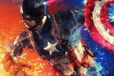 Steve Rogers : Captain America by DanielMurrayART.deviantart.com on @DeviantArt