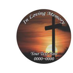 Cross In Loving Memory Full Color Circles Custom Vinyl Wall - Custom vinyl wall decals circles