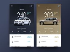 2 Color/Volvo XC 90 Control Center for Smart Product by Yo.Jia on Dribbble