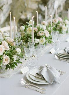 53 Ideas Wedding Table Decorations Luxury Receptions For 2019 Table Decoration Wedding, Wedding Table Centerpieces, Centrepieces, Floral Wedding, Wedding Flowers, Trendy Wedding, Boho Vintage, Wedding Place Settings, Wedding Flower Arrangements