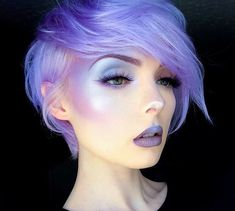Creative Makeup Looks DIY Makeup ideas Makeup tutorial Makeup tips makeup & beauty makeup, nails, hair, skincare and fashion Beauty Make-up, Beauty Hacks, Hair Beauty, Unicorn Makeup, Maquillage Halloween, Creative Makeup, Purple Hair, Purple Lips, Purple Pixie