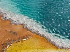 A close-up shot of a #thermal #pool in Yellowstone National Park
