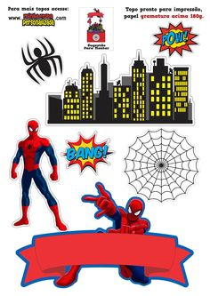 Spiderman Cake Topper, Spiderman Birthday Cake, Avengers Birthday, Birthday Cake Toppers, Spiderman Images, Baby Marvel, Bee Pictures, Marvel Coloring, Baby Boy Birthday