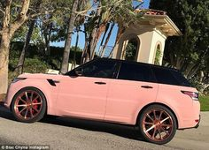 Pretty in pink: Yesterday, the reality vixen showed off her new ride on Instagram...