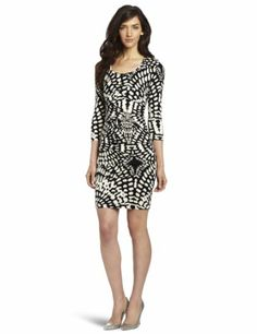 Nicole Miller Women's Leopard Mosaic Jersey Dress « Clothing Impulse