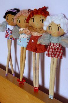 Busby Berkeley Chorus Cutie Oneofakind handmade doll by CuriousPip