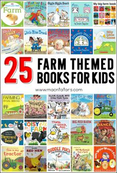 [ Farm themed books for kids, toddlers, and preschoolers. These books are great for a farm themed unit. Farm Animals Preschool, Preschool Books, Preschool Farm Theme, Preschool Class, Farm Lessons, Reptiles, Farm Unit, Kindergarten First Day, Kindergarten Goals