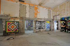 """Exposition éphémère """"Graff in the city"""" sur le chantier de l'immeuble Magistère, Paris 8."""