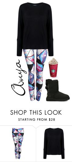 """""""Anya"""" by ashleeramme on Polyvore featuring Pilot, Pink Tartan, UGG Australia, women's clothing, women, female, woman, misses and juniors"""