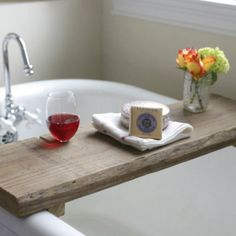 Make This Rustic Bath Caddy From a Single Board of Reclaimed Wood | eHow Home | eHow