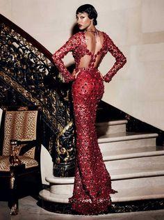 Jourdan Dunn for Vogue Magazine September 2015 photographed by Mario Testino