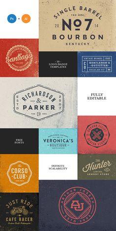 10 Logo/Badge Templates on Behance Typography Logo, Logo Branding, Branding Design, Logo Design, Lettering, Badge Template, Logo Templates, Badge Logo, Layout