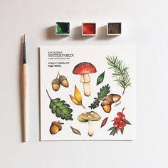 Photo Watercolor Pencil Art, Watercolor Sketchbook, Watercolor Illustration, Watercolor Paintings, Art Drawings Sketches Simple, Doodle Drawings, Fruits Drawing, Mini Canvas Art, Art Journal Inspiration