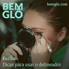 """Hoje a gente te ajuda a fazer aquele delineado com o traço """"gatinho"""" no final. Confira! :3 #bemglo #estilo #delineador"""
