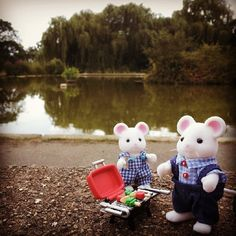 """""""Hickory Hawthorn with his son Bryce. BBQ in the park!"""" Miss Sylvanians latest #SylvanianSummer entry"""