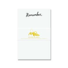 Remember Notepad. Black Letterpress On 50 Cotton Paper Sheets. ANP004