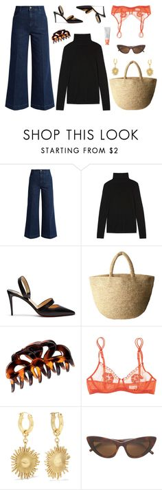 """""""Untitled #7662"""" by amberelb ❤ liked on Polyvore featuring STELLA McCARTNEY, Totême, Christian Louboutin, PLAIN PEOPLE, H&M, La Perla and E L L E R Y"""