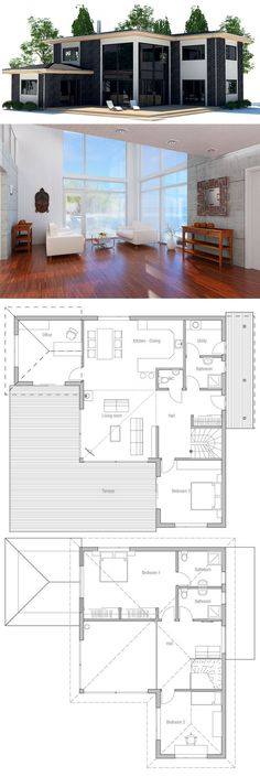Container House - Plan de Maison - Who Else Wants Simple Step-By-Step Plans To Design And Build A Container Home From Scratch? Sims House Plans, Modern House Plans, Modern House Design, House Floor Plans, Building A Container Home, Container House Plans, Container Homes, Small Floor Plans, Small House Plans