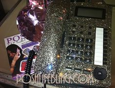 khloe Kardashian Home Phone -- Can I get one of these too? Have always loved this phone!!