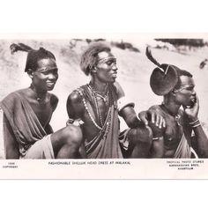 Young Shilluk men, South Sudan, early #1900s