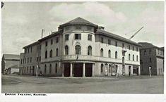 Empire Theatre, on Hardinge (Kimathi) Street, Nairobi Happy Valley, British Colonial, Nairobi, East Africa, Historical Photos, Kenya, Postcards, Theater, 1950s
