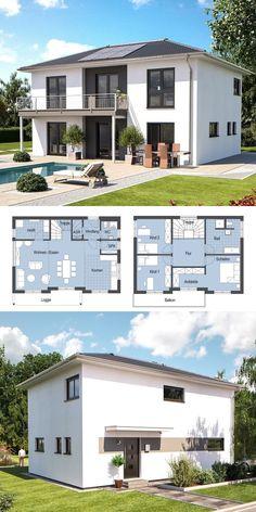 Einfamilienhaus Modern Mit Pultdach U0026 Querhaus   Haus Bauen Grundriss  Fertighaus Evolution 148 V9 Bien Zenker Hausbau   HausbauDirekt.de |  Interiors ...