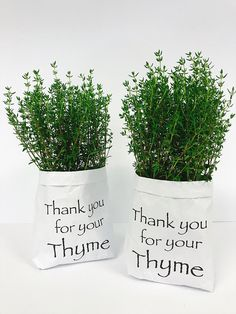 Thank you for your thyme! Volunteer Appreciation, Teacher Appreciation Gifts, Teacher Gifts, End Of School Year, School Fun, Thank You Presents, Retirement Gifts, Diy Cards, Diy Gifts