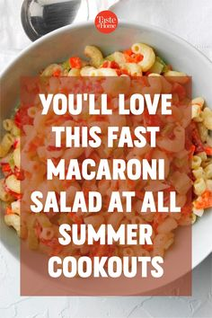 Chopped veggies provide crunch, and cherry tomatoes add vibrant color to this refreshing and creamy pasta salad. —Frankiee Bush, Freedom, Indiana Best Salad Recipes, Potluck Recipes, Cooking Recipes, Pasta With Mayonnaise, Creamy Pasta Salads, Potluck Salad, Macaroni Salad, Cucumber Salad