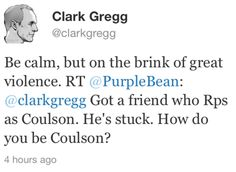 Clark Gregg offers best summary of Agent Coulson EVER.