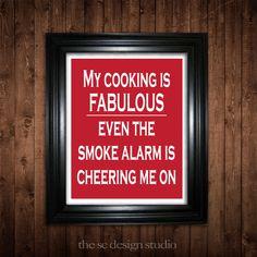 Cooking Humor Digital Print