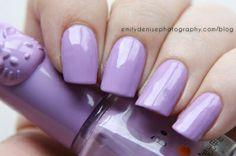 Nail Art - Lilac Hello Kitty nail polish.
