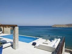 Elounda Beach Hotel and Villa Complex in Greece: Landscape in the swimming pool beach side in the Elounda Beach Hotel and Villa Complex