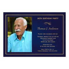 15 best 90th birthday invitation template images on pinterest 90th