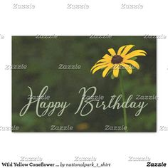 Wild Yellow Coneflower Happy Birthday Party Tissue Paper This beautiful party product features nature landscape photography of a beautiful Smoky Mountain wildflower. This yellow coneflower blooms all over the park