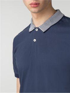 aa447206210 Intarsia Collar Polo Polo Collar Shirts, Polo T Shirts, Mens Designer Polo  Shirts,