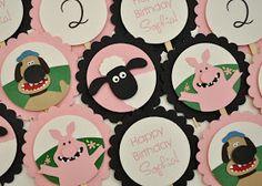 Shaun the Sheep die cut cupcake toppers