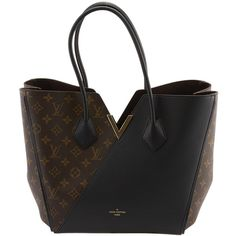 Pre-Owned Louis Vuitton Kimono Brown & Black Monogram Coated Canvas &... ($3,899) ❤ liked on Polyvore featuring bags, handbags, tote bags, purses, handbags totes, leather man bags, monogrammed tote bags, leather totes and monogrammed leather tote