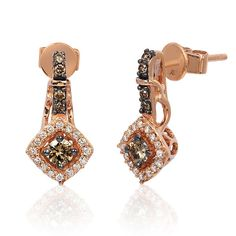 Le Vian® 14K Strawberry Gold® Drop Earrings Featuring 0.48 Carats Chocolate and Vanilla Diamonds® - Levian Style YQEN 53