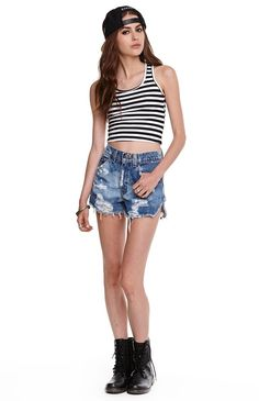Nollie Cropped Racerback Tank #pacsun (could be use to make dupe of daisy top from LF)