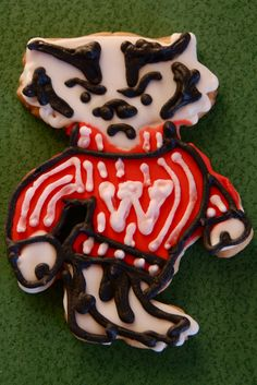 Bucky Badger sugar cookies! Will be on a mission to find this cookie cutter!