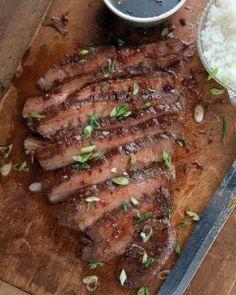 Recipe For  Soy-Ginger Flank Steak