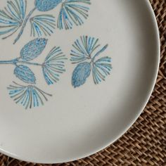 Blue Alpine by Stetson China, Four Dessert Plates by putnamandspeedwell on Etsy