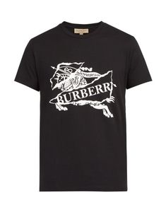 a0e70f40 BURBERRY BURBERRY - LOGO PRINT T SHIRT - MENS - BLACK. #burberry #cloth