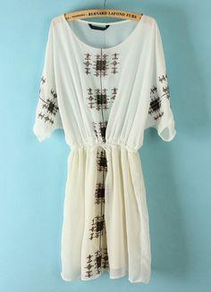 Embroidery Bandeau Dress