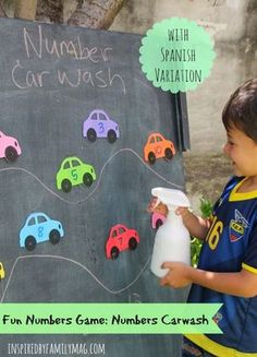 Numbers Carwash- a fun preschool math activity!
